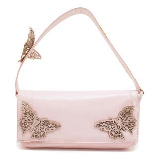 Beverly Feldman Pink Butterfly Handbag