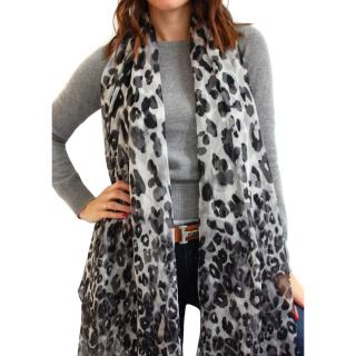 Max Mara Silk Leopard Scarf