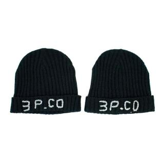3Pommes Boy's Black Hat