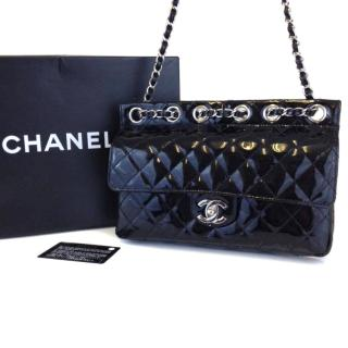 CHANEL Patent Leather Quilted Flap Bag