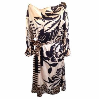 Galliano silk oversized dress