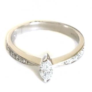 18ct White Gold Marquis Cut Diamond Ring