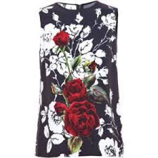 Dolce & Gabbana Red roses top