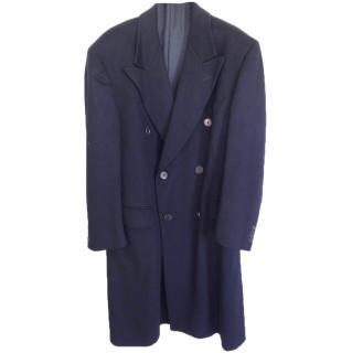 Valentino men's blue cashmere coat