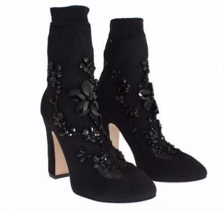 Dolce & Gabbana Suede crystal boots