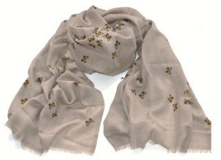 Bottega Veneta butterflies cashmere scarf