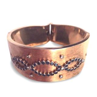 Ansuini Rome Gold, Diamonds and Sapphires Cuff Bracelet