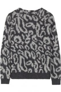 By Malene Birger Grey Leopard Print Jumper
