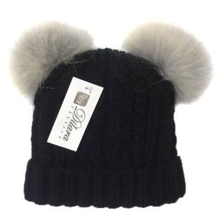 Russian Fur Compant Fox Fur Double Pom Pom hat