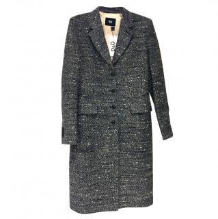 D&G DOLCE&GABBANA  Tweed Blue&Beige Coat