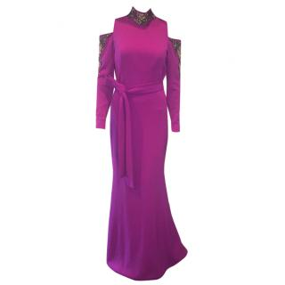 Lucian Matis magenta gown 2016 fall/winter collection