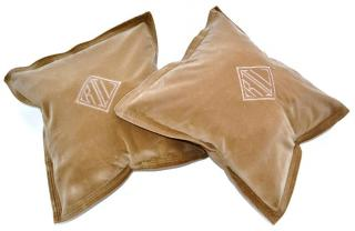 Ralph Lauren velvet cushion cover x 2