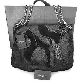 Balmain Croco Patchwork Bag