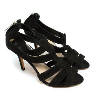 Christian Dior Black Suede Strappy Sandals