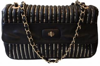 Moschino Leather Flap Bag