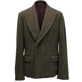 Dolce & Gabbana Mens Brown Wool Blazer