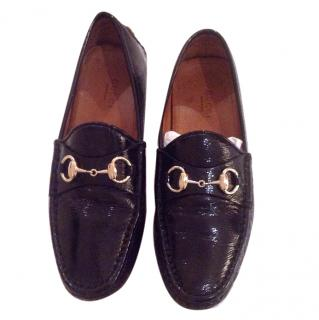 Gucci Patent Leather Horsebit Driver