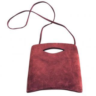 Natan Red Suede Box Bag