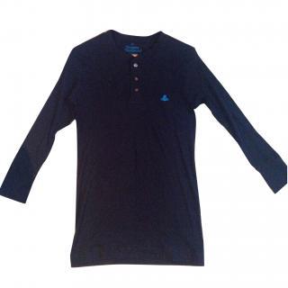 Vivienne Westwood Black long sleeve button top