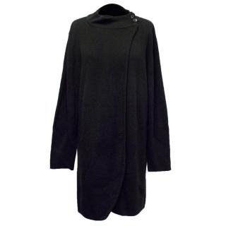 Caroline Charles Black Ribbed Cardigan Wrap