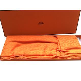 Hermes orange stole in box