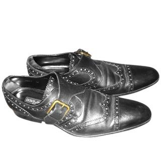 Dolce & Gabbana Luxury Brogue Monkstrap Shoes