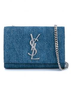 Saint Laurent Denim Monogramme Bag