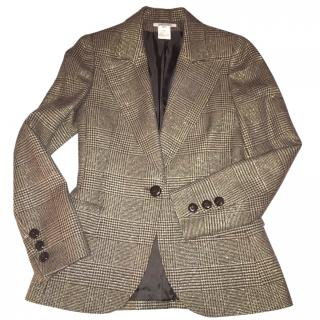 Georges Rech Gold and Brown Tweed Jacket