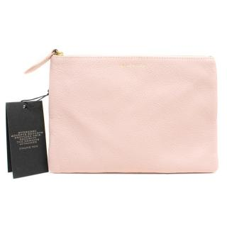 Burberry Dusty Pink Leather Pouch