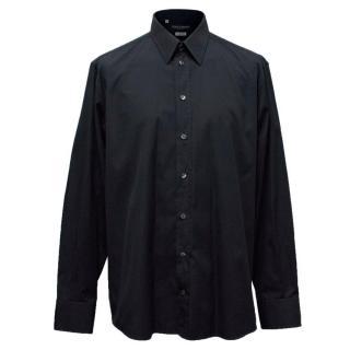 Dolce & Gabbana Luxury Mens Navy Blue Shirt