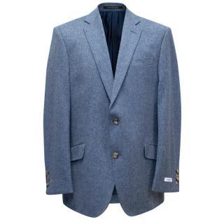 Richard James Steel Blue Wool Blend Blazer