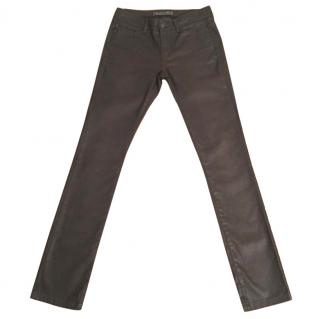 IKKS Brown Straight Leg Slim Fit Jeans - Size 28 / Leg 34