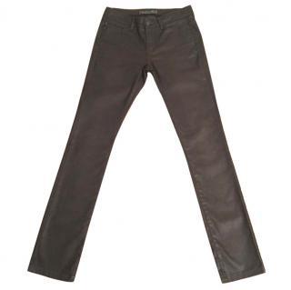 IKKS Brown Straight Leg Slim Fit Jeans - Size 28 / Leg 34