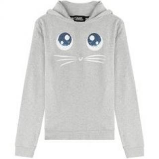 Karl Lagerfeld Grey Cat Hoodie