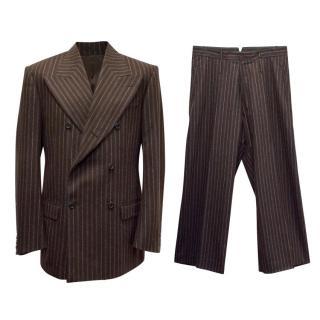 Alexander McQueen Men's Brown Striped Suit