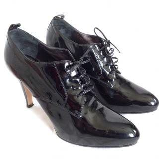 Gianvito Rossi patent leather lace ups