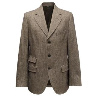 Dolce & Gabbana Men's Brown Houndstooth Blazer