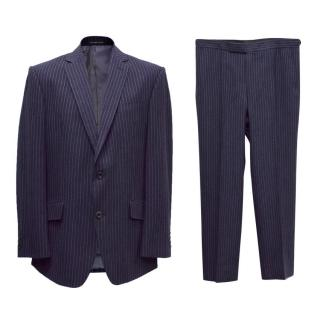 Richard James Navy Blue Striped Two Piece Suit