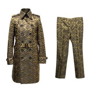 Burberry Men's Patterned Jacket & Trouser Set