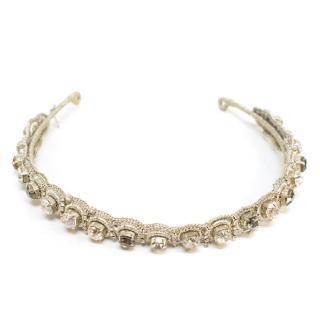 Jenny Packham Silver Crystal Headband