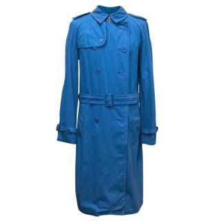 Burberry Men's Blue Trench Coat