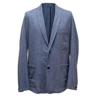 Richard James Mens Steel Blue Lightweight Blazer