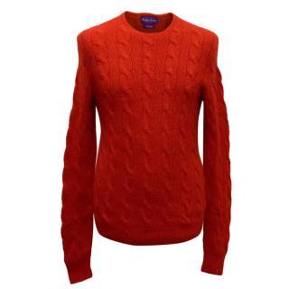 Ralph Lauren Men's Red Knit Jumper