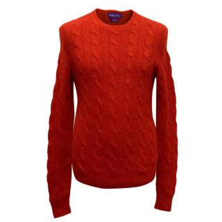 Ralph Lauren Men's Red Knit Jumper