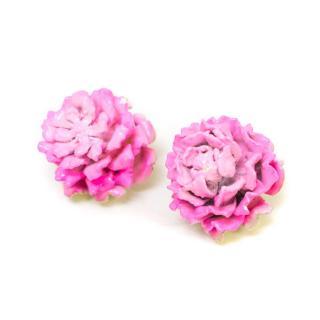 Jenny Packham Pink Rose Clip Earrings