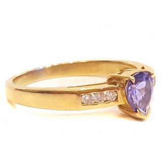 Tanzanite & Diamond Ring 14ct Gold