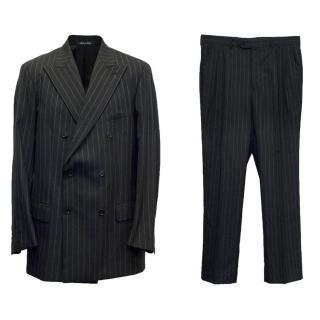 Jean-Baptiste Caumont Firme Men's Black Striped Suit