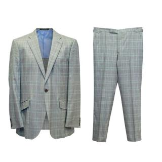 Richard James Grey and Green Checked Two Piece Suit