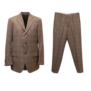 Piombo Red & Brown Checked Two Piece Suit