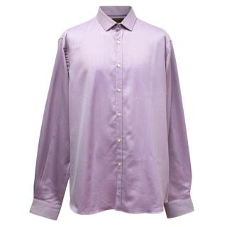 Etro Men's Purple Patterned Shirt
